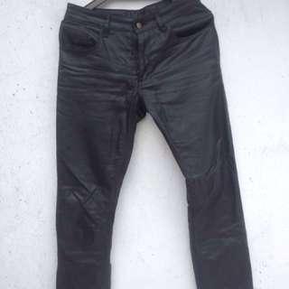NOW SALE!! Black Coated Jeans Custom Unbrand