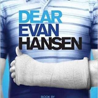 DEAR EVAN HANSEN MUSICAL BOOK