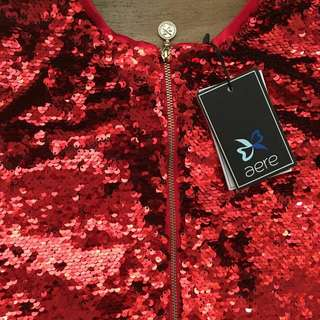Aere Zerene Sequin Red Jacket