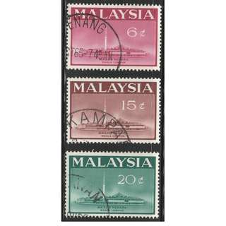 MALAYSIA 1965 Opening of National Mosque, Kuala Lumpur set of 3V used SG #15-17 (A)