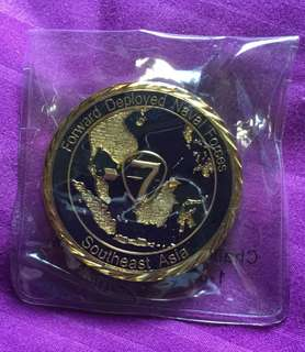 US United States Navy 7th fleet commemorative coin. The Golden Arrow