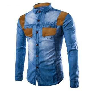 Kmj Menloy (BlueMuda) (BlueTua) Rp100.000 Kemeja pria