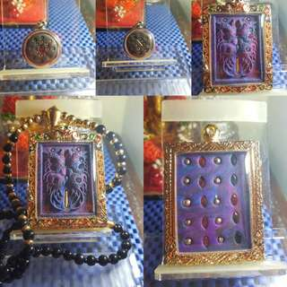 Thai Amulet butterfly  kruba krissana BE2559 VIP Dream Blk Butterfly king Thep-jamLang With real gold takrut 100%kruba krissana FREE Dream Blk loop om and gold chain @gold Cashing