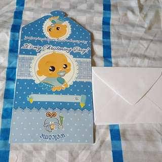 Baby Boy Christening Decoration Set