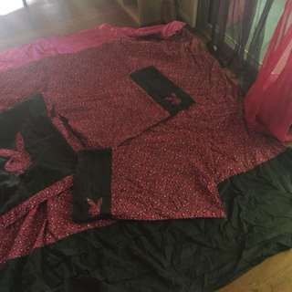 Queen size play boy cover 2 pillow slips 1 large pillow slip