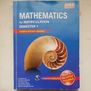 Matriculation Sem1 Science Stream