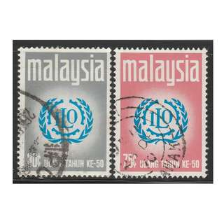 MALAYSIA 1970 50th Anniversary of International Labour Organisation set of 2V used SG #72-73