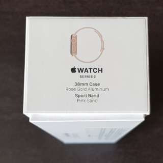 Apple Watch 3mm Rose Gold Pink Sports Band