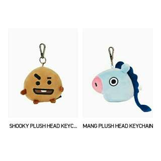 [NON PROFIT] BTS BT21 Plush Head Keyring