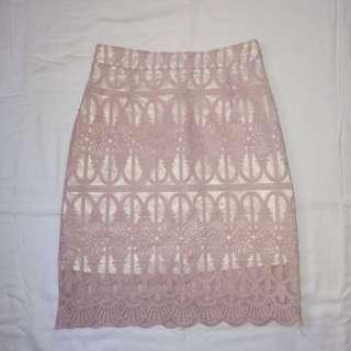 Nude Pink Skirt
