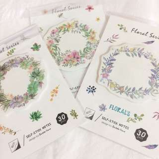 Floral Wreath sticky notes