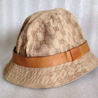 Authentic Gucci Fedora/bucket hat