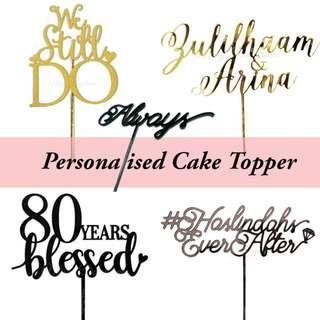 Personalised /Custom Acrylic Cake topper