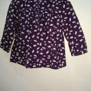 Dark violet top