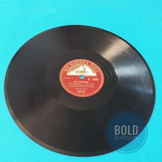 Authentic Vintage Vinyl Record 78rpm Luis Mariano: C'est Magnifique, I love Paris. For Gramphone Turnable Record Player