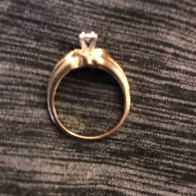 1/4 karat 14k gold diamond ring size 81/2