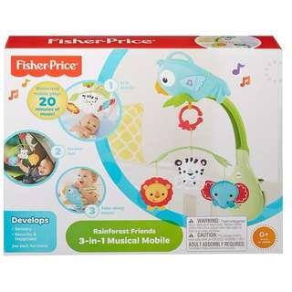 BNIB: Fisher Price Rainforest Friends 3-in-1 Musical Mobile