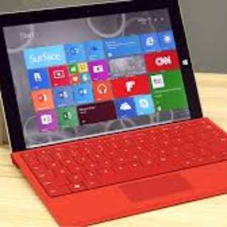 Microsoft Surface Pro 3 Type Cover & Keyboard (Red)