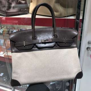 Hermes birkin 35 with canvas