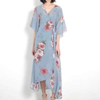 Alaia floral wrap dress