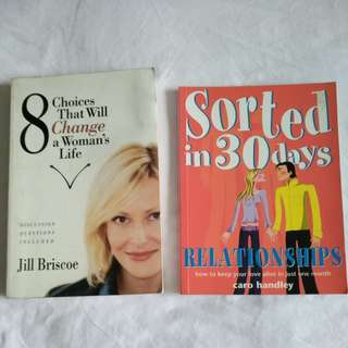 (Sale) 2 for $5 - books on relationships & choices #woman