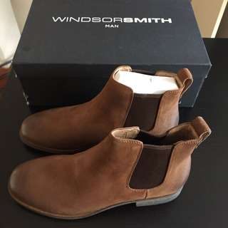 NEW Windsor Smith Griff Tan Leather Boots