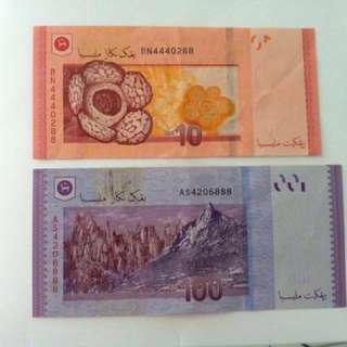Prosperity and lucky number notes