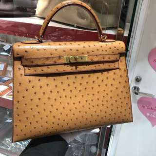 Hermes kelly 32 ostrich