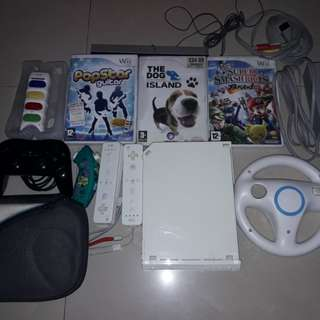 Nintendo Wii complete set with games