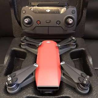 DJI SPARK (Red) with Care & Controller