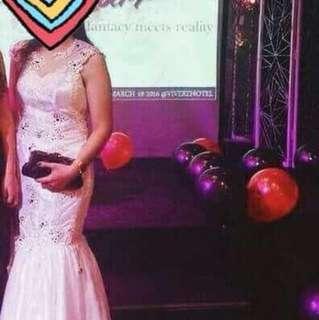 Elegant Prom Gown White