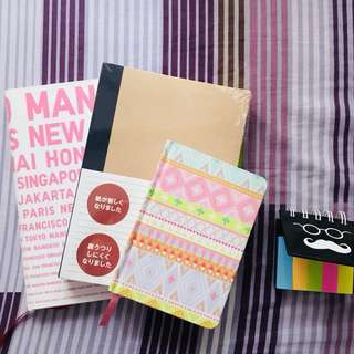 Set of Muji, Uniqlo and Typo notebooks (with free Typo post-its!)