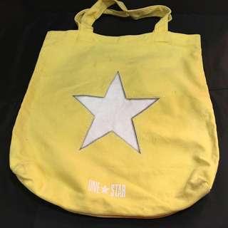 感恩惜福❤️黃色星星帆布袋