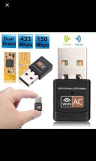 600Mbps Dual Band 2.4G / 5G Hz Wireless Lan USB PC WiFi Adapter 802.11AC cyber anon