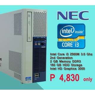 NEC system unit core i3 2nd gen processor slim type super sale and super mura na accepting wholesale