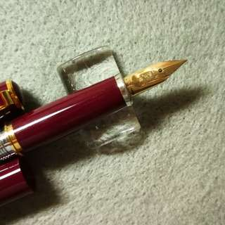 Platnum PTL5000, 14K fine gold nib red and gold fountain pen
