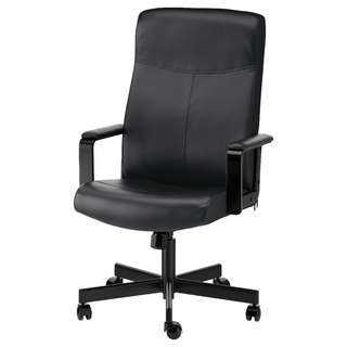 IKEA BLACK LEATHER CHAIR FOR SALE