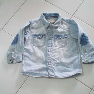 H&M Denim Shirt - 9m to 12m