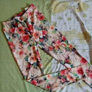 Legging Panjang Bunga