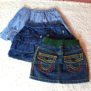 Little Girl Denim skirt (take all)