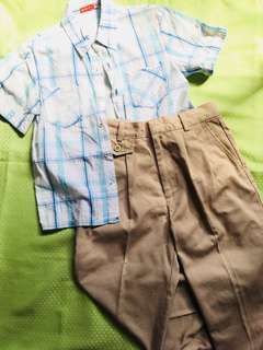Mossimo Kids Top + French Toast Pants (7-10yrs old)