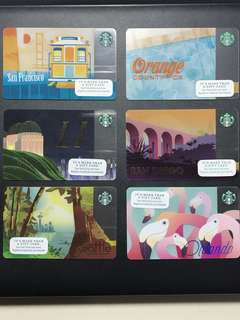 USA STARBUCKS CARDS!!!