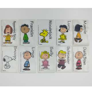 Snoopy 一套10款八達通卡套