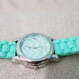 Aeropostale rubber mint green watch