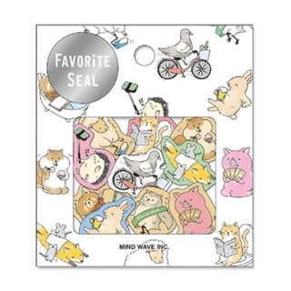 * Special Item* (Mix & Match)*Mind Wave Japan - Favourite Seal Daily Life of Animals Stickers