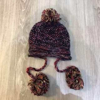 🚚 9成新毛球球針織毛帽