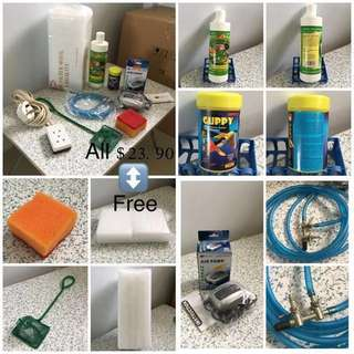 (Used)Set Of Fish Tank Accessories