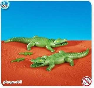 Playmobil 7894 Add-On Alligators with Babies Crocodiles
