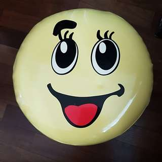 Smiley face sofa stool