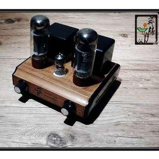 木材單端膽機 (6N4+EL34)